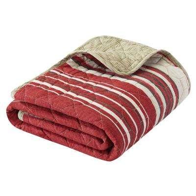 50 in. x 60 in. Yakima Valley Red Quilted Throw