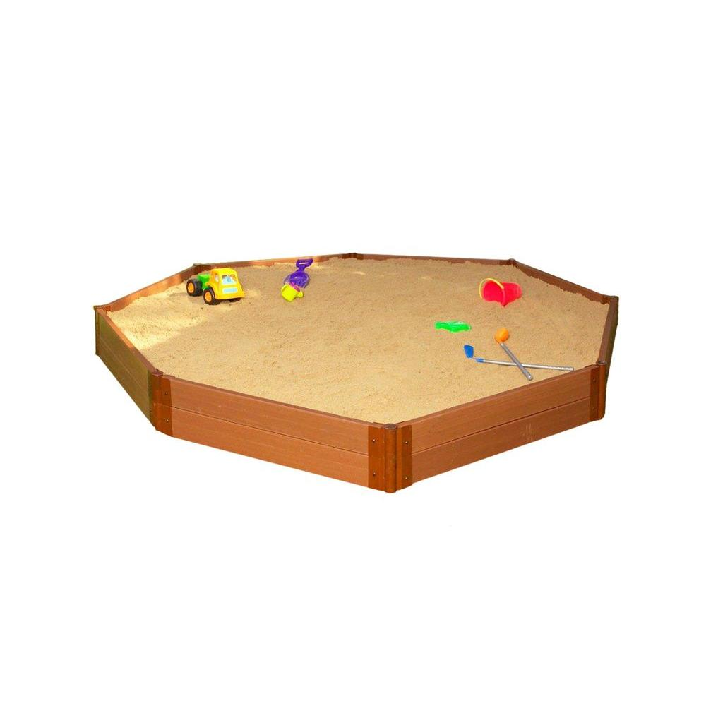 Frame It All Two Inch Series 10 ft. x 10 ft. x 11 in. Composite Octagon Sandbox Kit