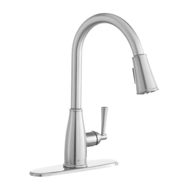 Glacier Bay Fairhurst Single Handle Pull Down Sprayer Kitchen Faucet With Turbospray And Fastmount In Stainless Steel Hd67726w 1108d2 The Home Depot