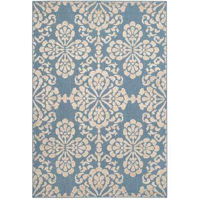 Teal 5 X 8 Outdoor Rugs The Home Depot