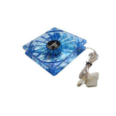 b-PWM 120 mm Blue 2 Ball Bearing PWM Blue LED 12-Volt DC Fan, Blue