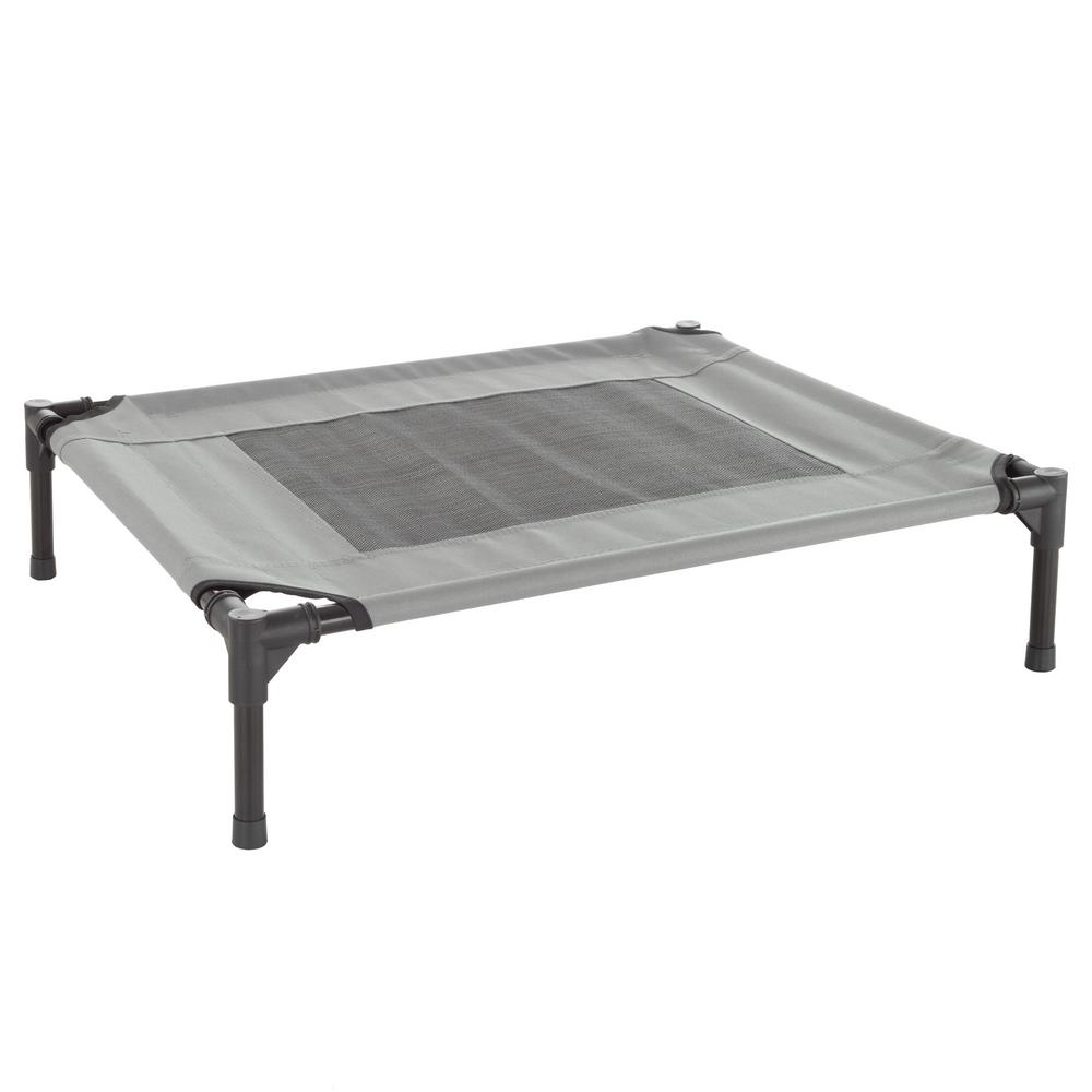 Petmaker Medium Gray Elevated Pet Bed Hw3210134 The Home