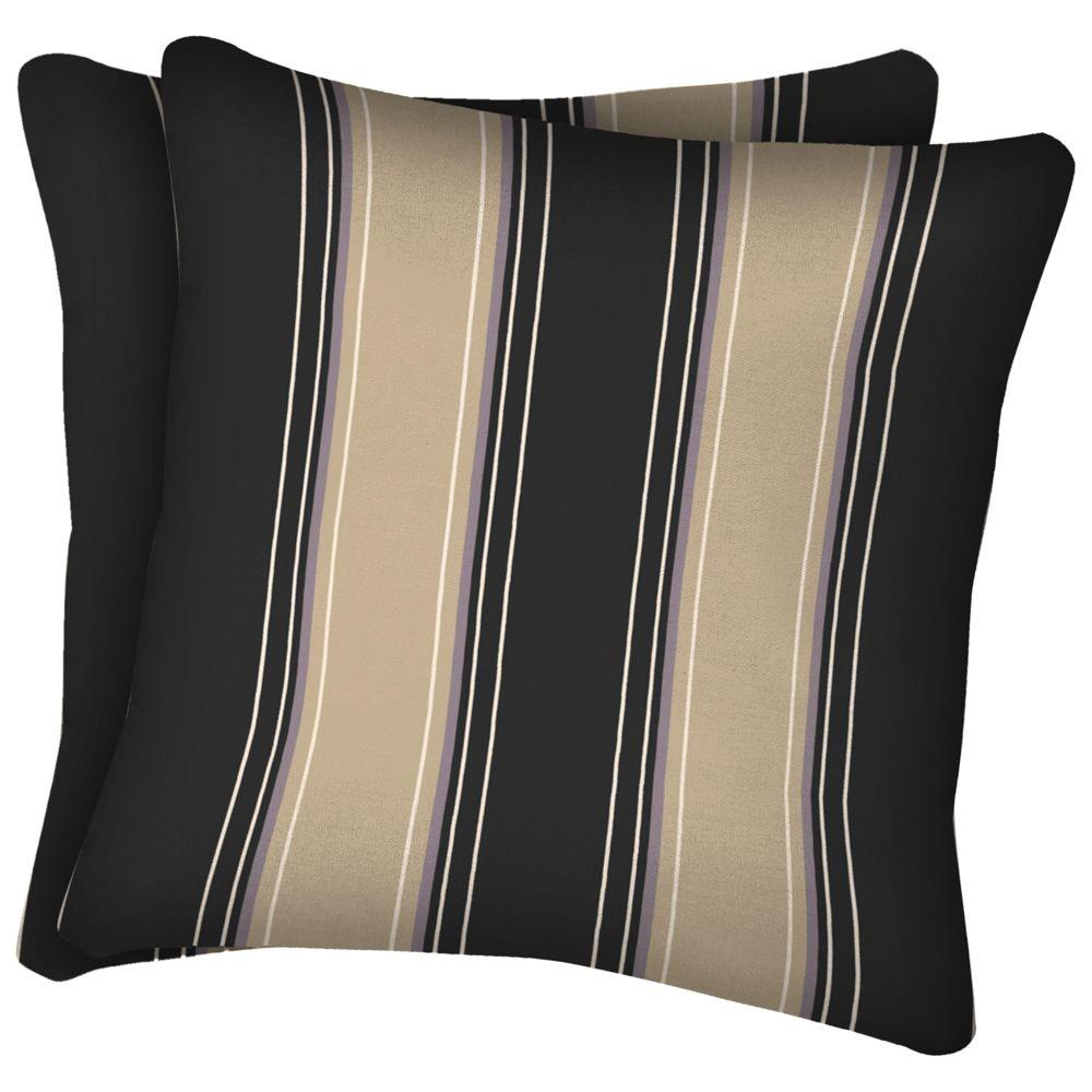 Arden Hanley Noir Square Outdoor Throw Pillow (2-Pack)-DISCONTINUED