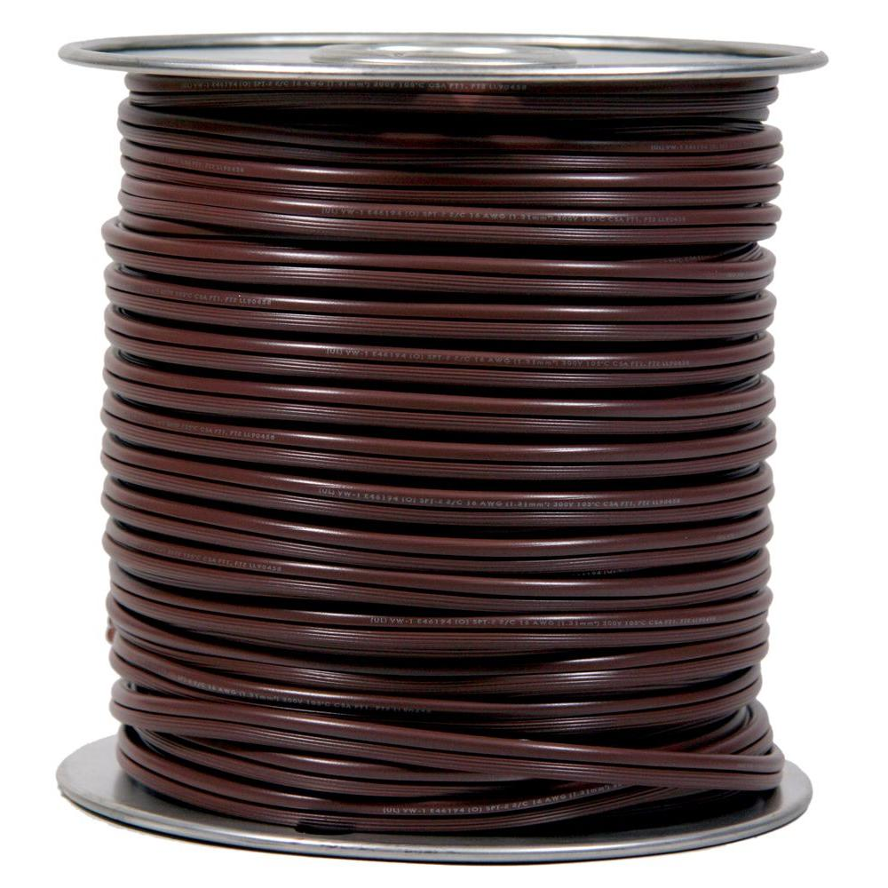 Southwire 250 ft. 14/2 Brown Stranded CU CL3 Outdoor Speaker Wire on