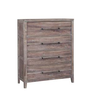 Aurora 4-Drawer Weathered Gray Chest of Drawers