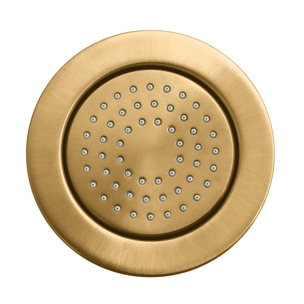 KOHLER WaterTile 4.875 in. 1-spray Single Function 54-Nozzle Round Body Sprayer in Vibrant Brushed Bronze