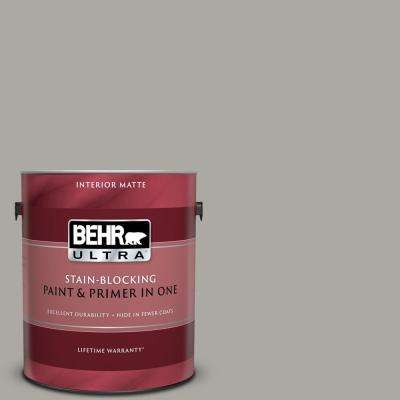 1 gal. #PPU24-10 Downtown Gray Matte Interior Paint and Primer in One