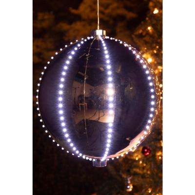 Xmas Ball Ornament with 240 Chasing LED Lights (Plug In)