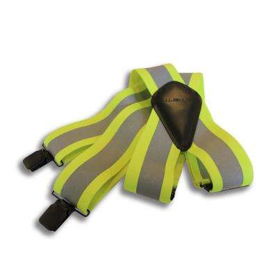 Mens Brite Lime Elastic High-Visibility Rugged Flex Suspender