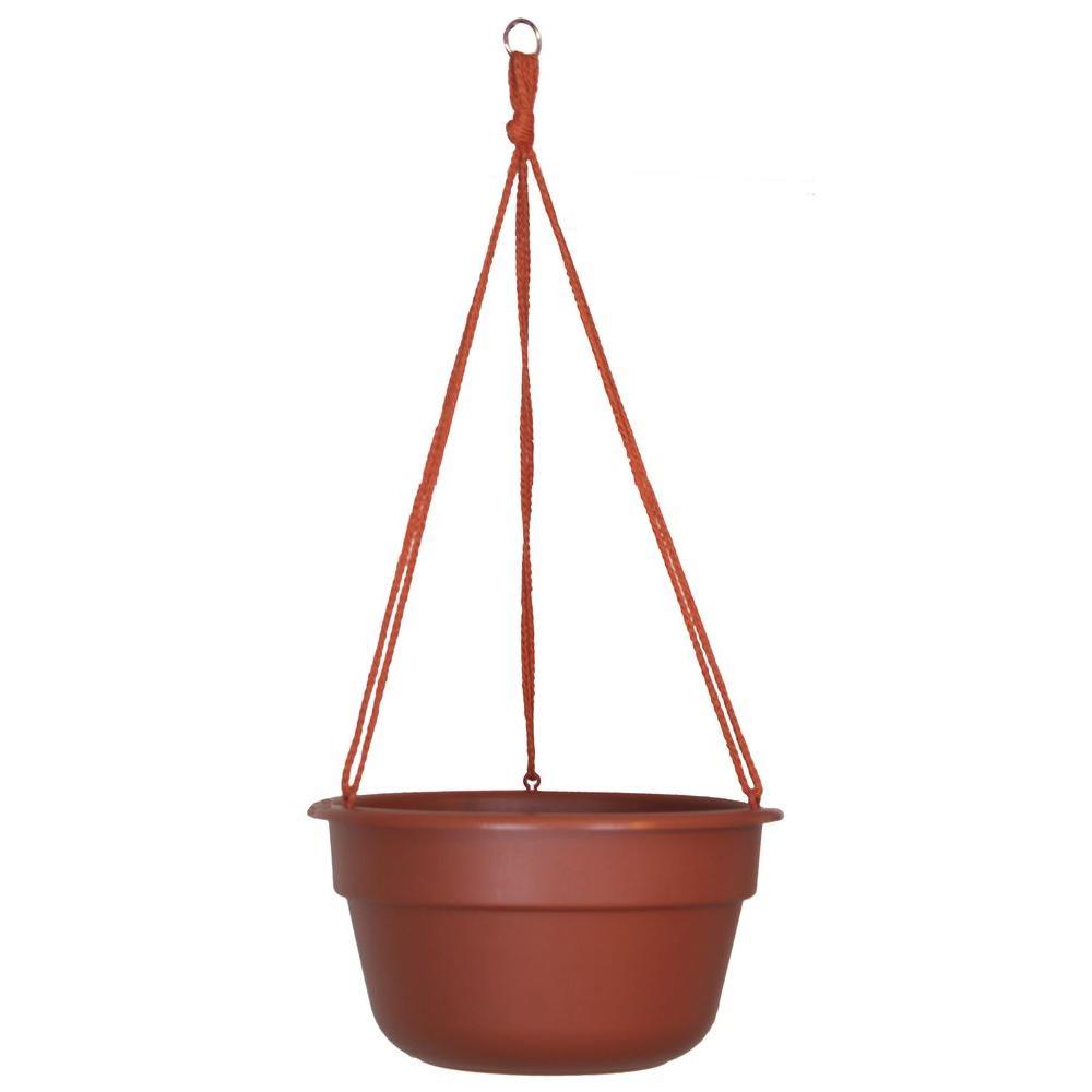 Bloem 12 in. Terra Cotta Dura Cotta Plastic Hanging Basket