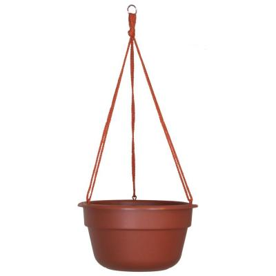 Dura Cotta 12 in. Terra Cotta Plastic Self Watering Hanging Basket Planter