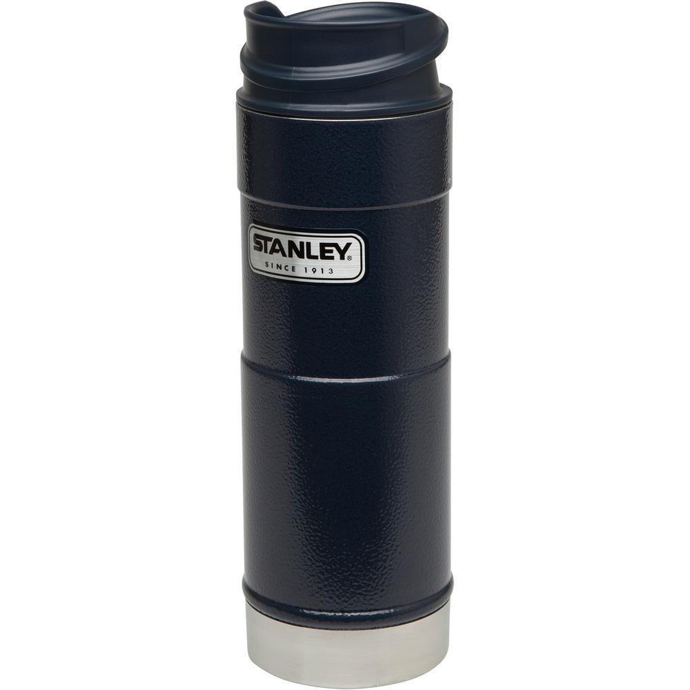 Stanley Classic 16 Oz One Hand Vacuum Mug Navy 10 01394