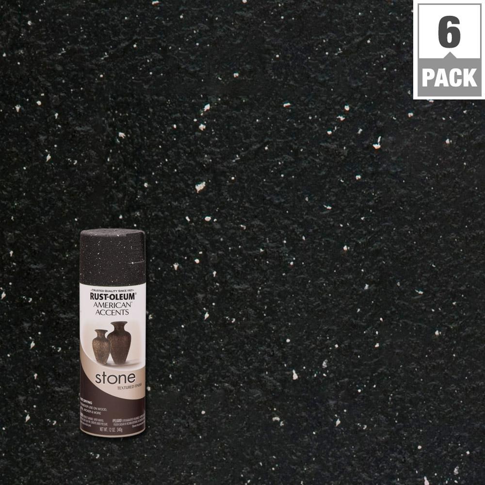Rust-Oleum American Accents 12 oz. Black Stone Creations ...