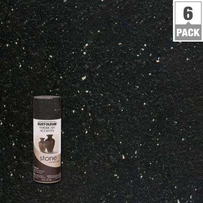 12 oz. Stone Creations Black Granite Textured Finish Spray Paint (6-Pack)
