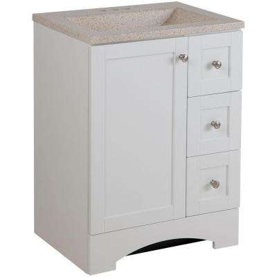 Lancaster 24 in. W Vanity in White with Colorpoint Vanity Top in Maui
