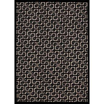 Ultima Ivory/Black 5 ft. x 7 ft. Area Rug