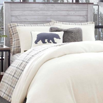 Cloud Peak Beige Solid Duvet Cover Set