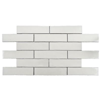 Alaska Craquelle White 3 in. x 12 in. Ceramic Subway Wall Tile (4 sq. ft. / pack)