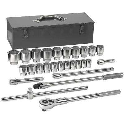 3/4 in. Drive 12-Point Standard Socket Set (27-Piece)