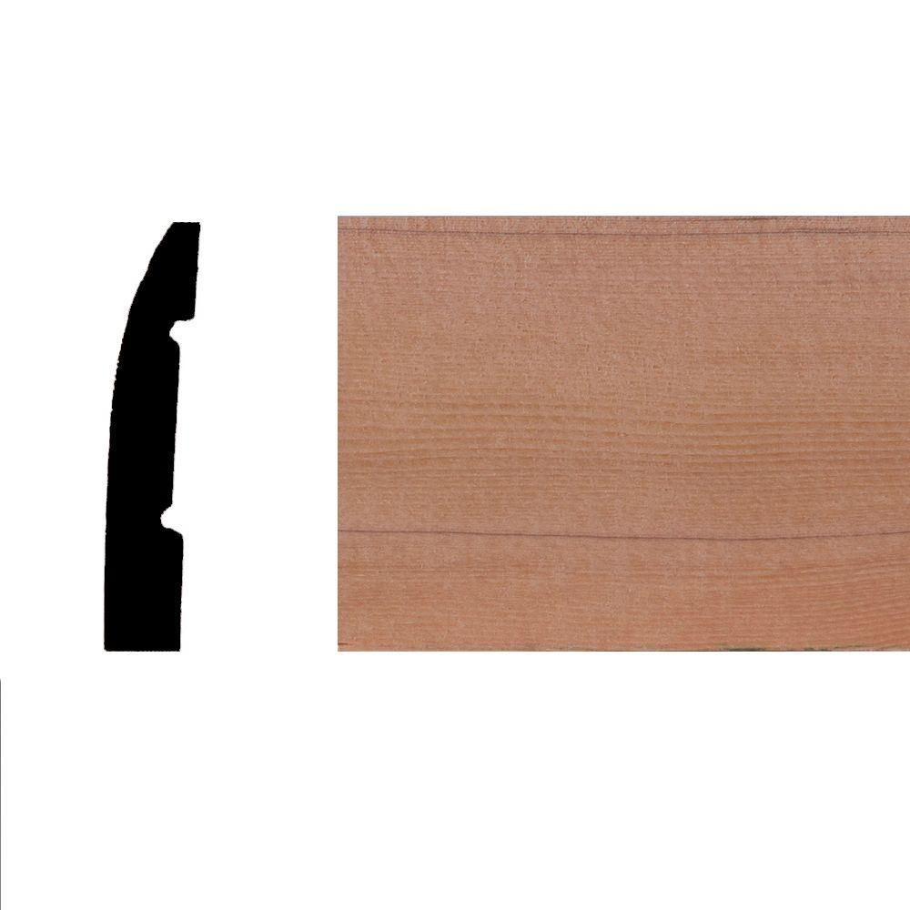 LWM726 7/16 in. x 2-1/4 in. Hemlock Wood Base Moulding