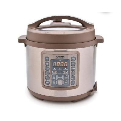 4 Qt. Brown Electric Multi-Cooker with Aluminum Pot