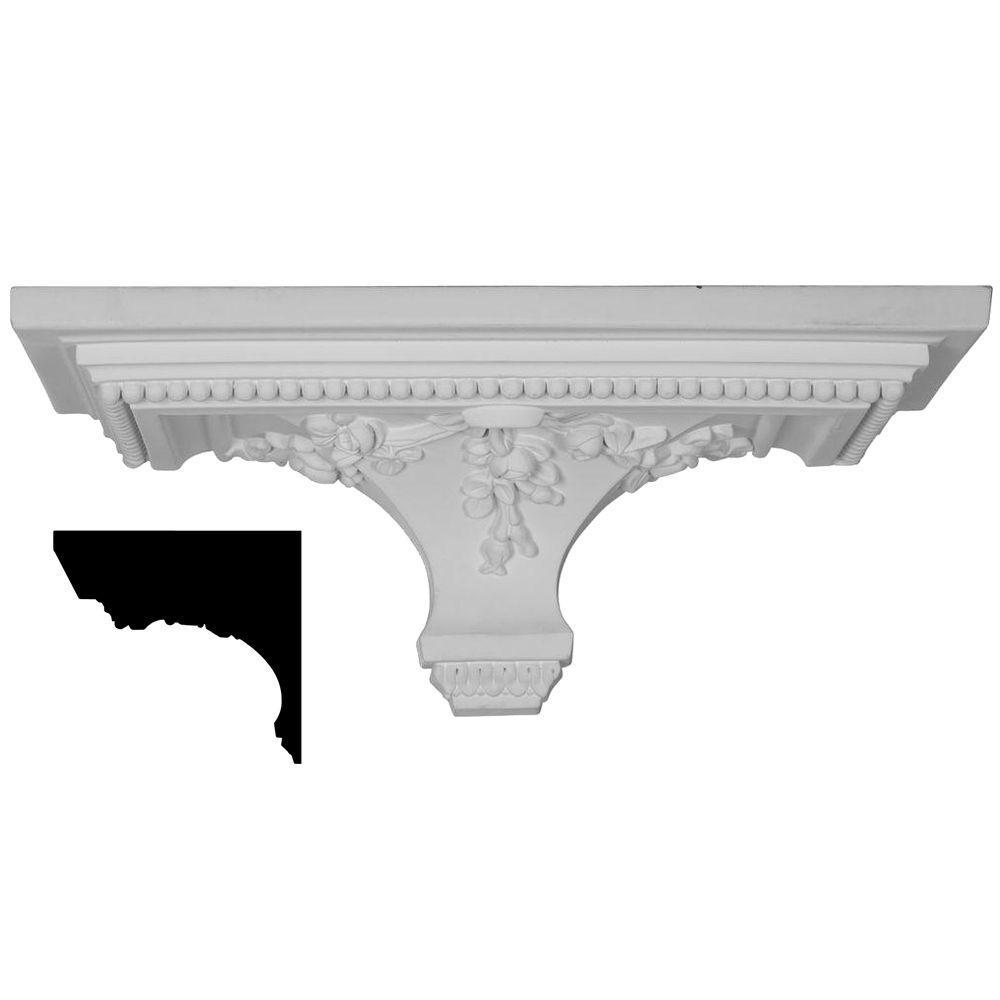 18 in. x 7-3/8 in. x 9-1/8 in. Polyurethane Victorian Shelf Moulding