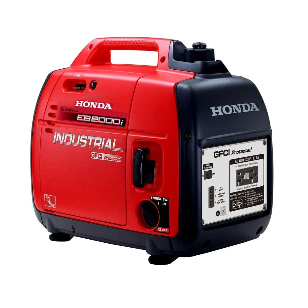 Honda 1600-Watt Gasoline Powered Portable Generator with GFCI ...