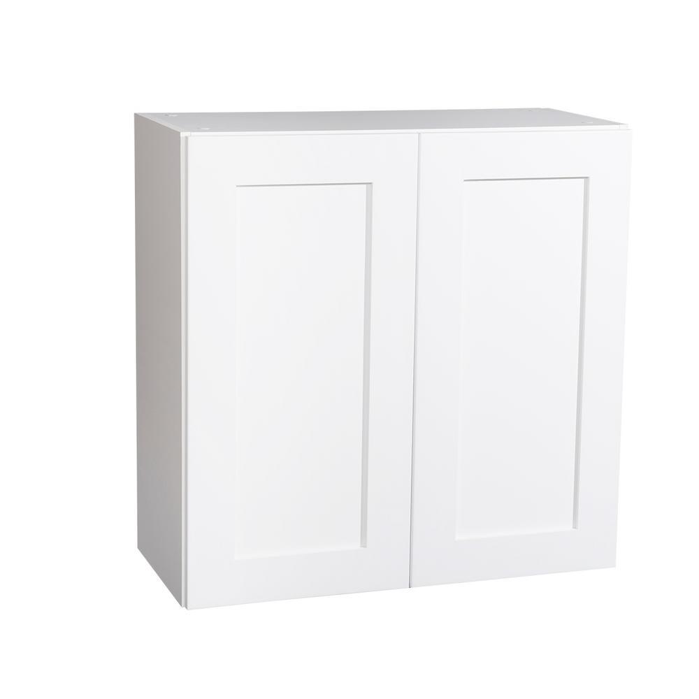 Krosswood Doors Ready To Assemble 36x30x13 In Shaker 2 Door Wall