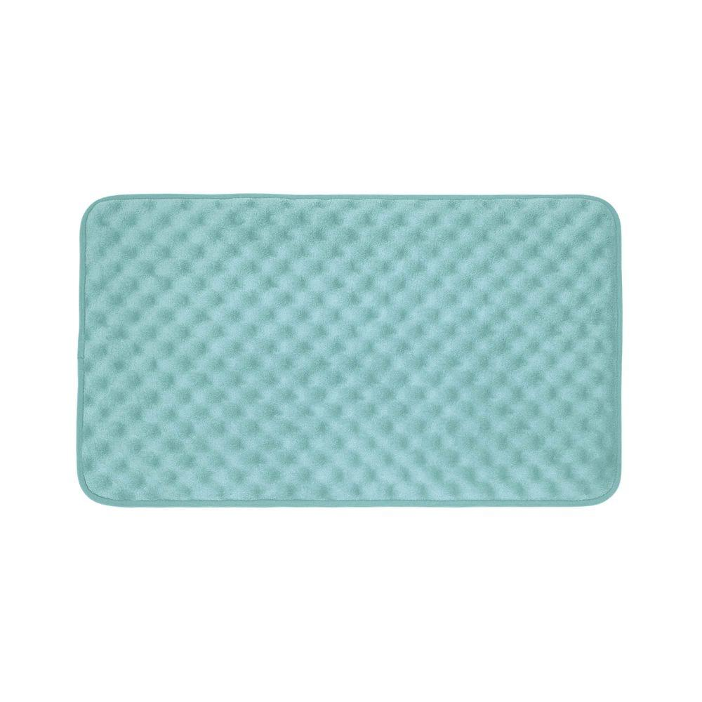 Massage Aqua 17 in. x 24 in. Memory Foam Bath Mat