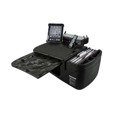 GripMaster Green Camouflage Car Desk with Built-In Power Inverter, Printer Stand, X-Grip Phone Mount and Tablet Mount