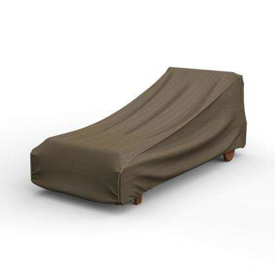 NeverWet Hillside Extra-Large Black and Tan Single Patio Chaise Cover