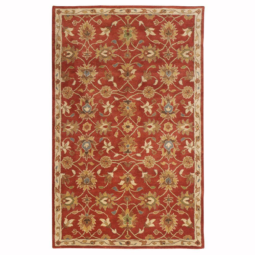 Home Decorators Collection Kent Red 3 ft. x 5 ft. Area Rug