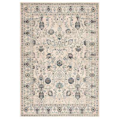 Ameena Ivory 2 ft. 6 in. x 7 ft. 8 in. Transitional Runner Rug