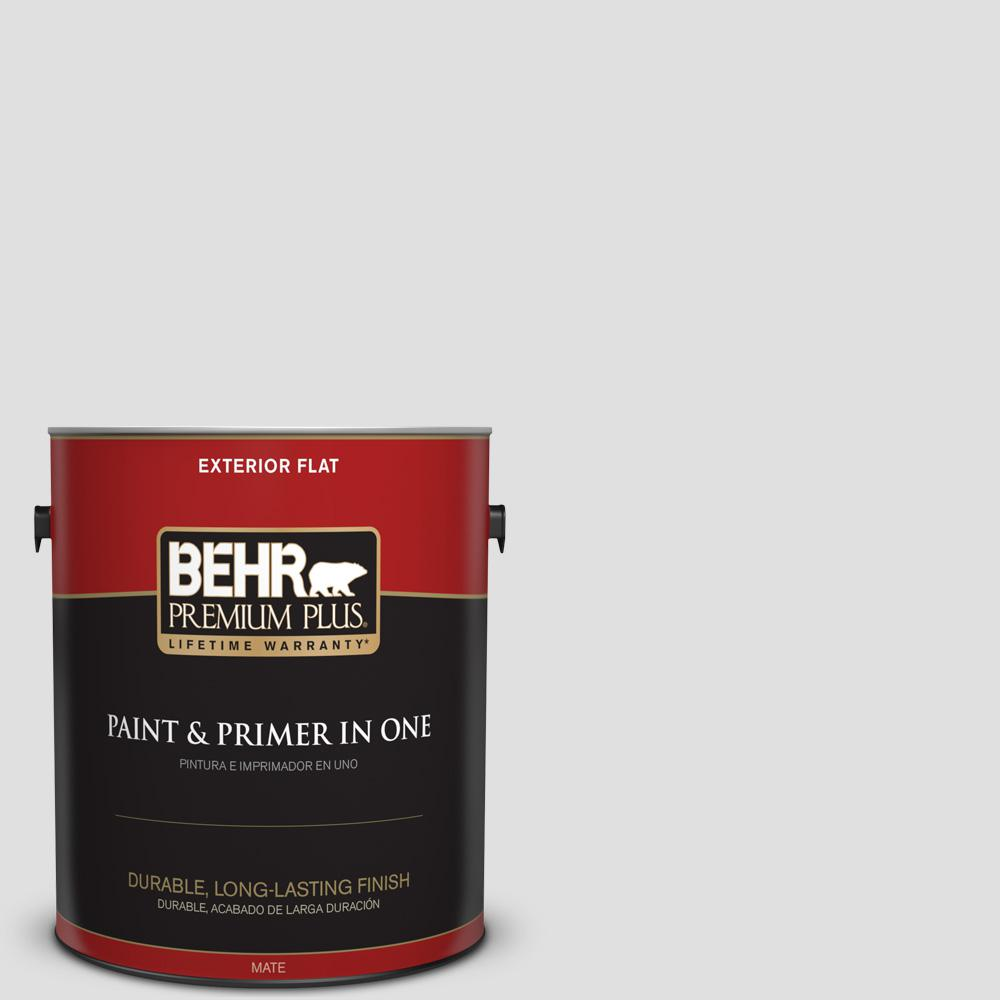 1 gal. #MQ3-55 White Lie Flat Exterior Paint and Primer in