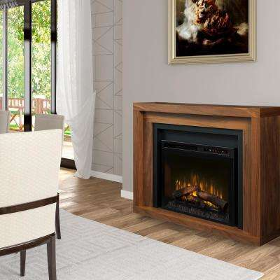 Anthony 48 in. Electric Fireplace with Logs in Walnut with 28 in. Mantel