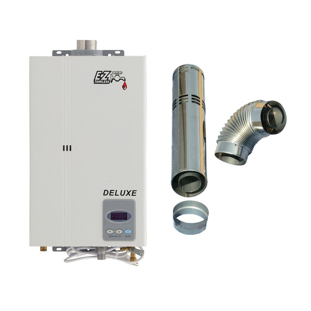 Ez tankless deluxe on demand 4 4 gpm 85 000 btu natural Natural gas water heater