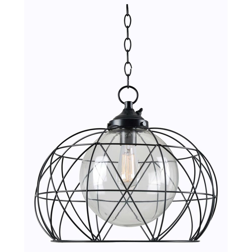 Kenroy Home Cavea Bronze 1-Light Outdoor Hanging Pendant ...