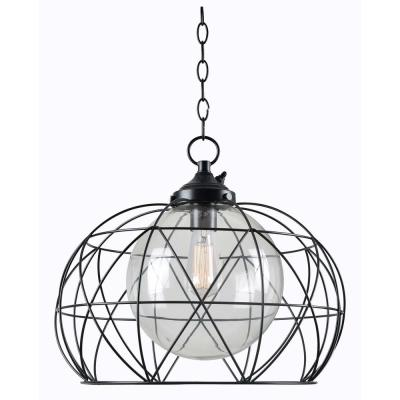 Cavea Bronze 1-Light Outdoor Hanging Pendant