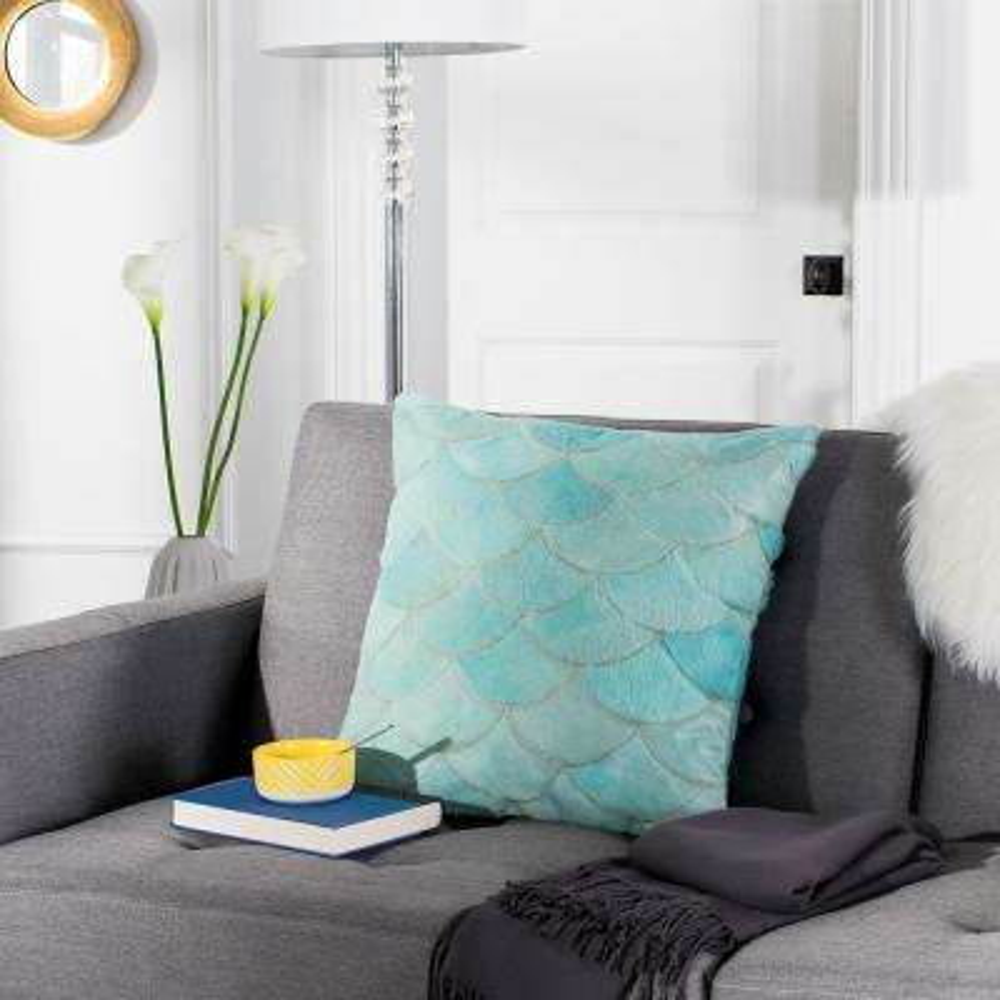 Metallic Scale Cowhide Standard Pillow