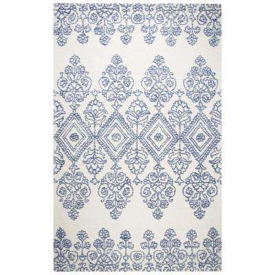Legacy Ivory/Blue 8 ft. x 10 ft. Medallion Area Rug