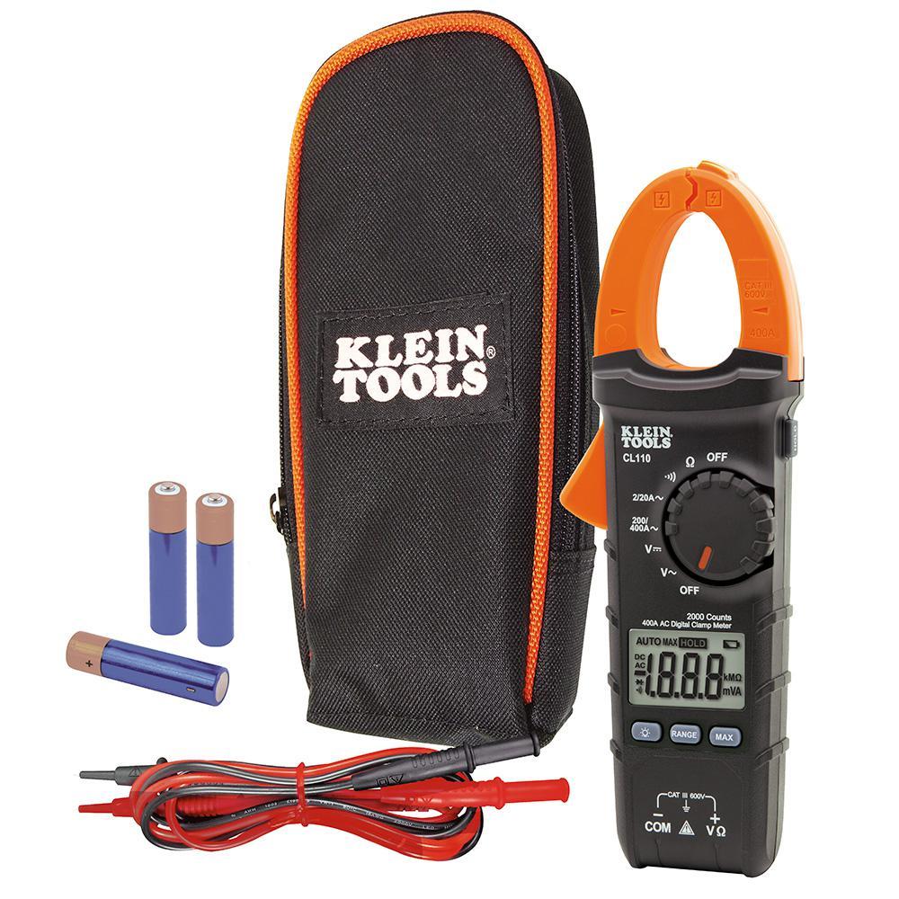 Klein Tools 400 Amp AC Auto-Ranging Digital Clamp Meter