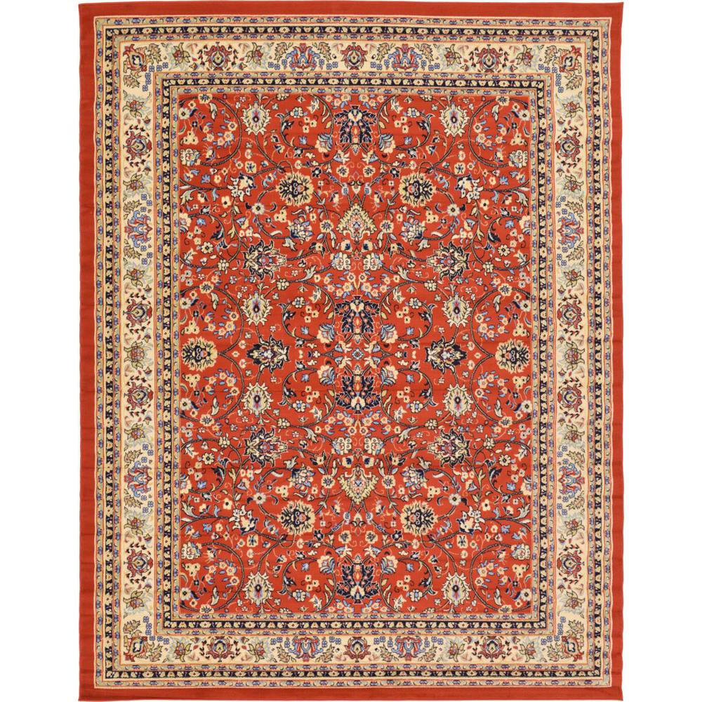 Linoleum Rug Turquoise Terracotta Area Rug Or Kitchen Mat: Unique Loom Kashan Terracotta 9 Ft. X 12 Ft. Area Rug