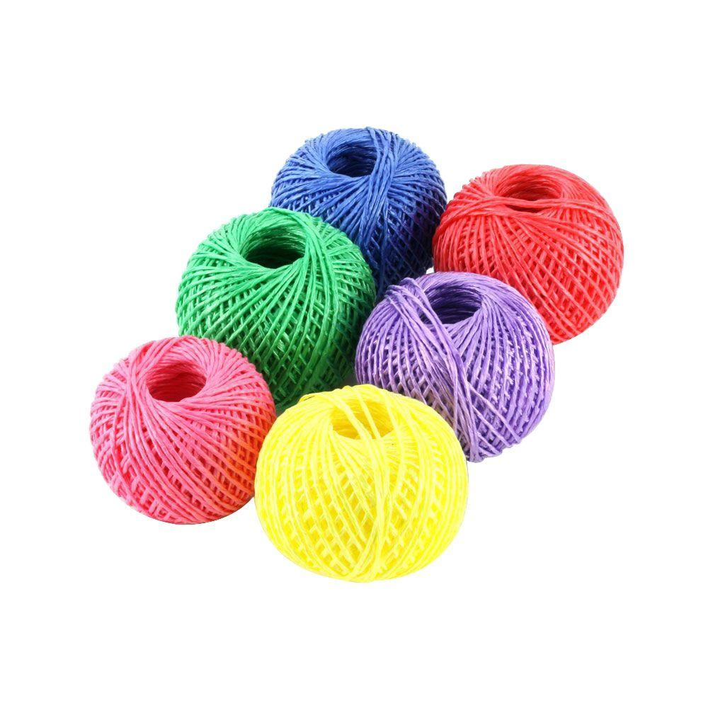 1/6 in. x 200 ft. Assorted Colors Dazzle Twine