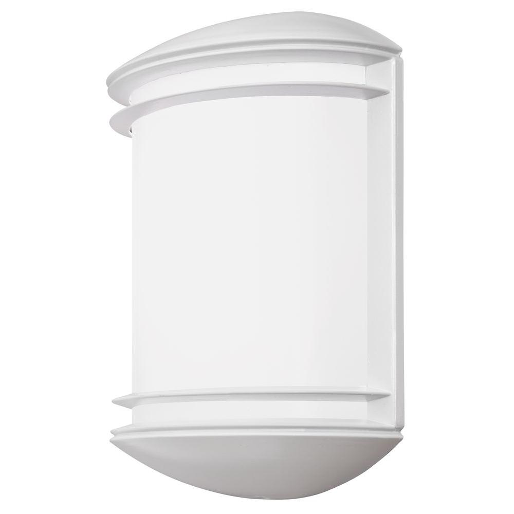 Lithonia Lighting OLCS White Outdoor Integrated LED Wall Lantern Sconce