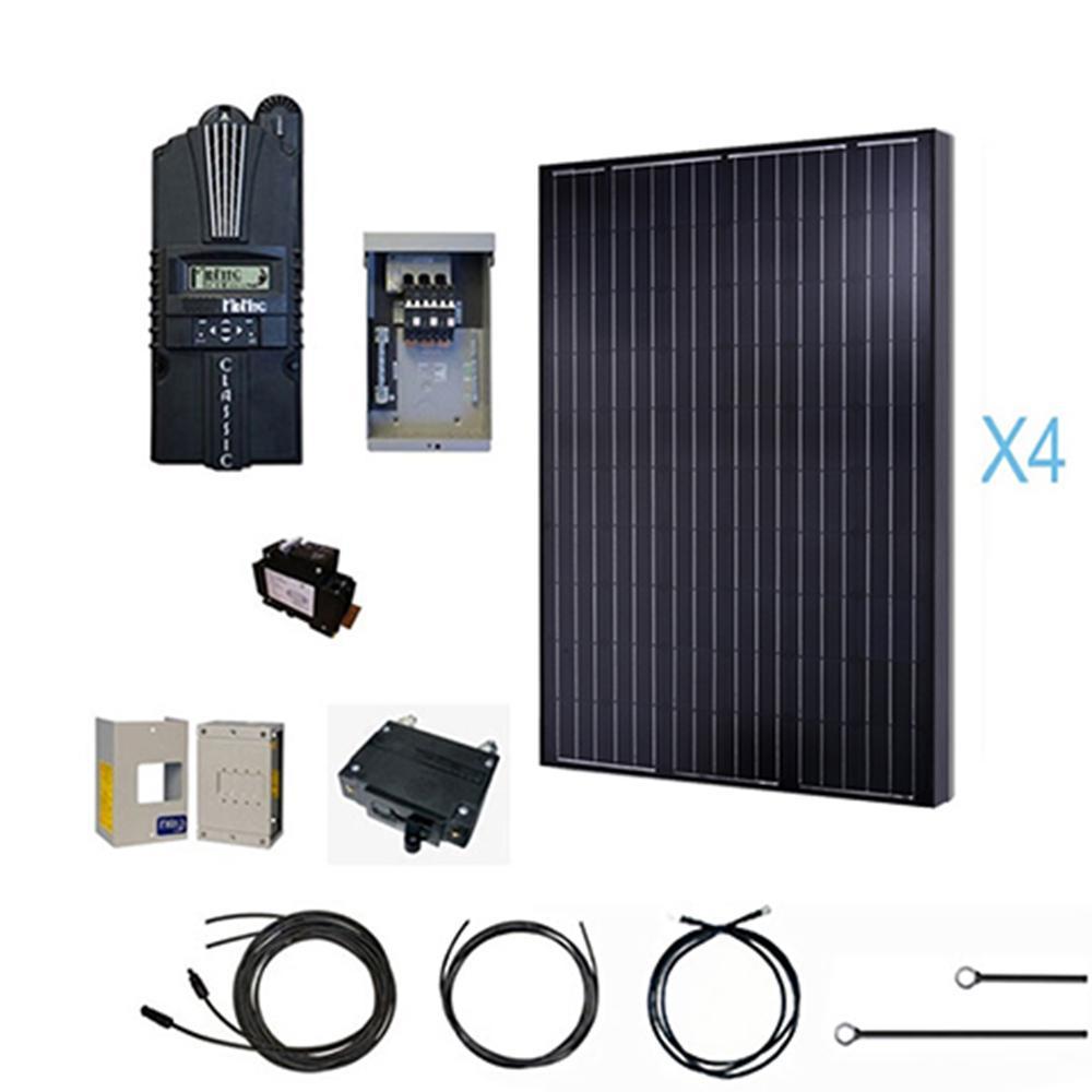 Renogy 1000-Watt 12-Volt Monocrystalline Solar Cabin Kit for Off-Grid Solar