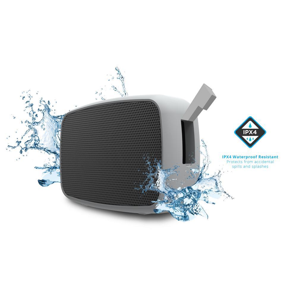 Water Resistant Wireless Speaker, Silver