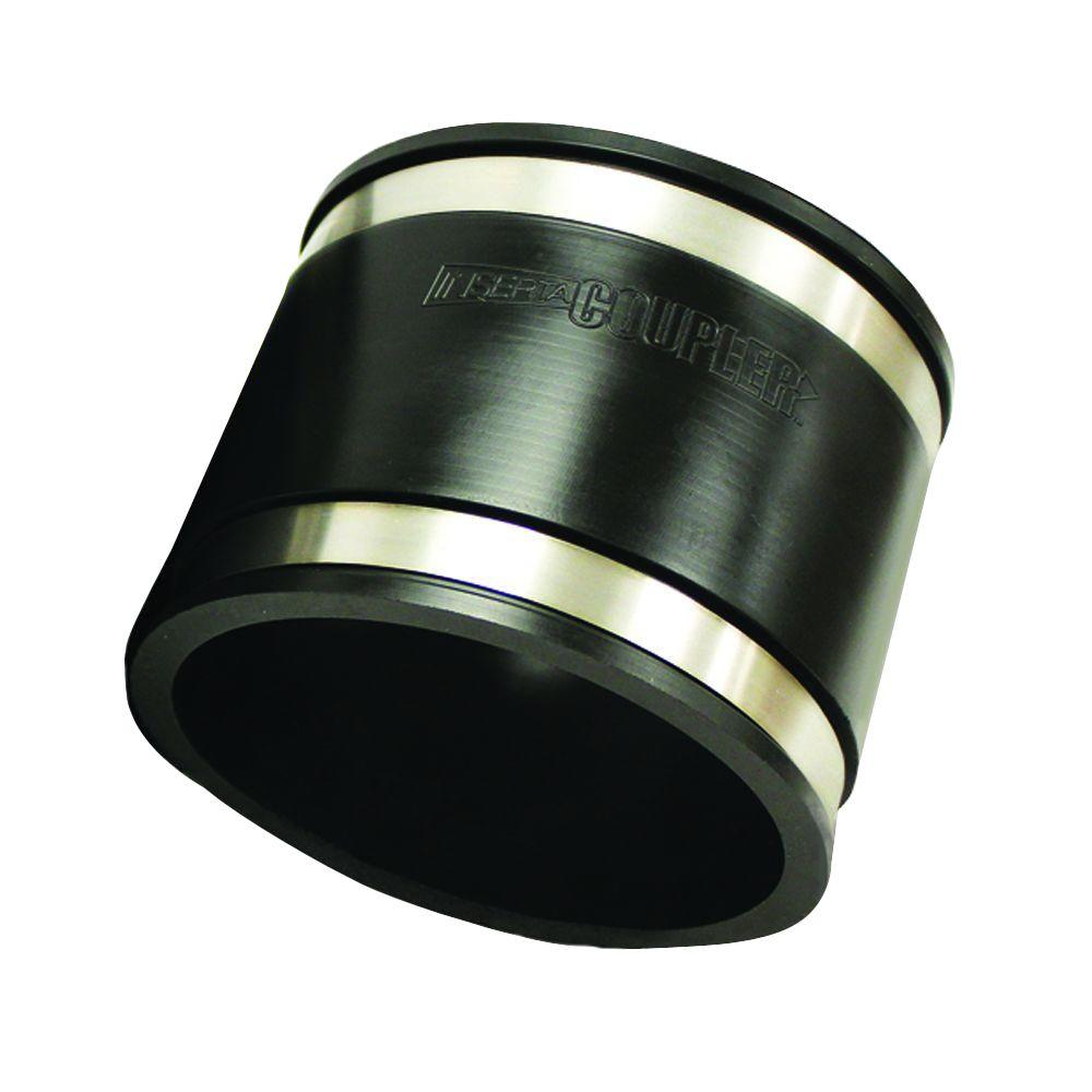 6 in. x 6 in. SBR Rubber Clamp-On Flexible Coupler