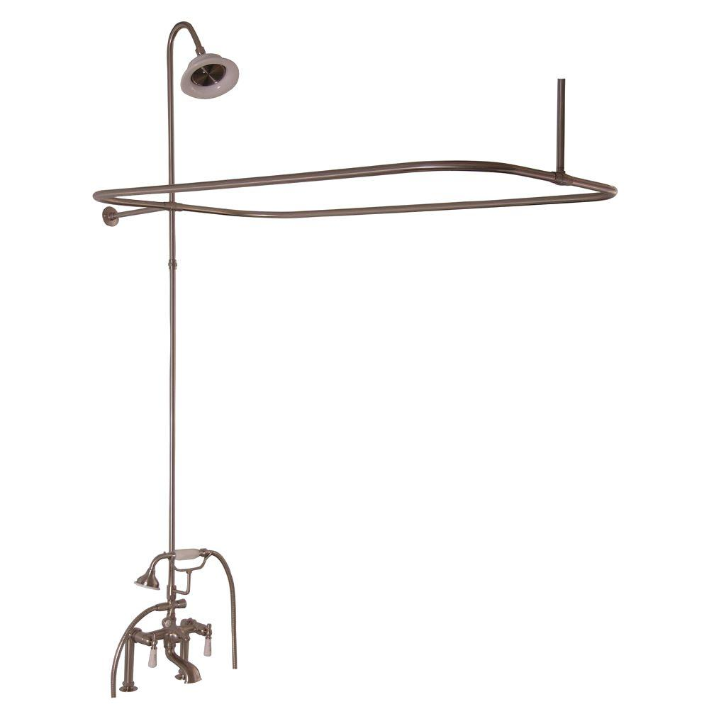 Barclay Products 3 Handle Claw Foot Tub Faucet With Hand Shower And Unit In