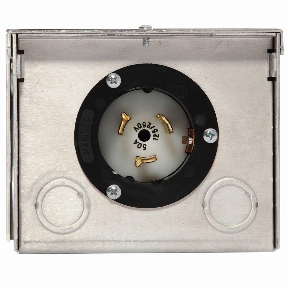 50-Amp Raintight Aluminum Power Inlet Box