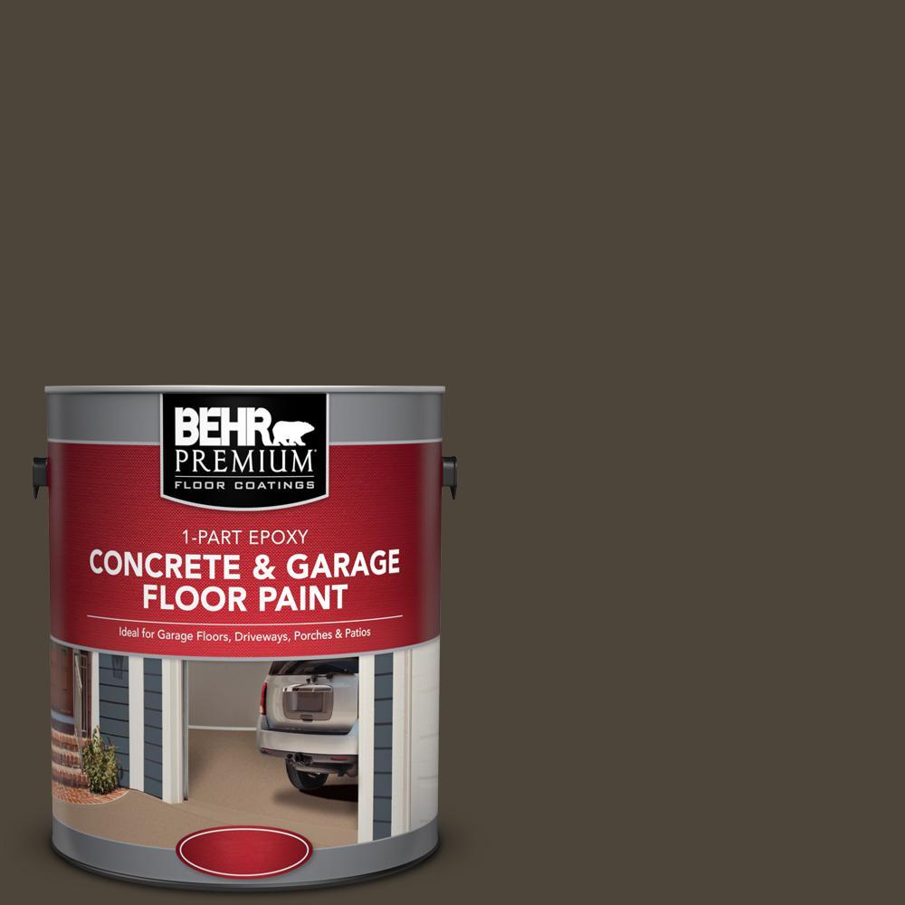 1 gal. #SC-104 Cordovan Brown 1-Part Epoxy Concrete and Garage Floor Paint
